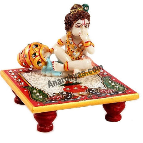 Marble Krishna With Chowki, anarghyaa.com, return gift