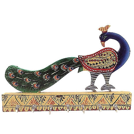 Wooden Peacock Key Holder, Anarghyaa.com, Online Return Gift Store