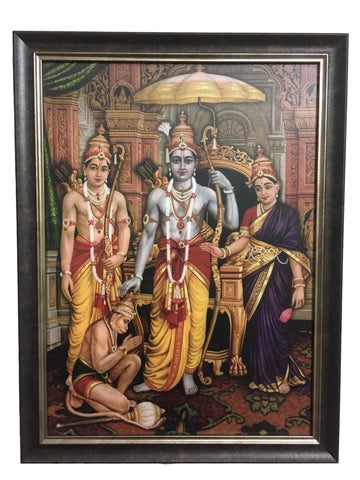Antique Rama Sital Photo with Frame, Anarghyaa.com