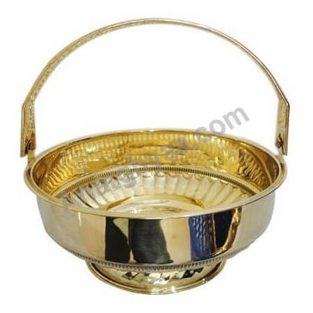Puja Flower Basket, Brass Flower Basket, Anarghyaa.com, Puja Basket, Puja accessories