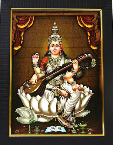 Goddess Saraswathi Photo, Buy goddess photo online at Anarghyaa.com