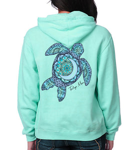 Turtle Hoodie - Chalky Mint