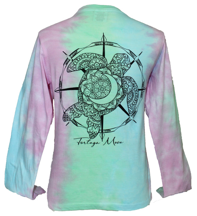Turtle Tie-Dye - Mint Blue Pink