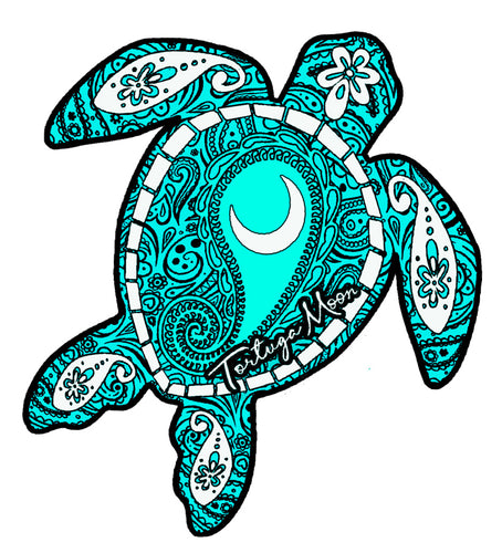Blue Moon Turtle Decal
