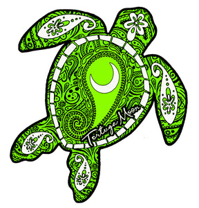 Lime Moon Turtle Decal