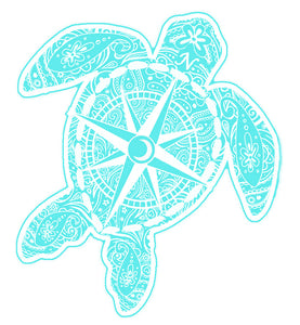 Ice Compass Turtle Decal