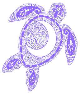 Violet Moon Turtle Decal