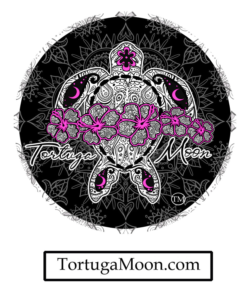 Purple Mandela Flower Turtle Decal
