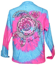 Load image into Gallery viewer, White Fade Turtle - Tie Dye Flo Blue/Pink