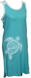 Turtle Mermaid Racerback - Chalky Mint