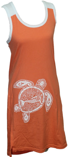 Turtle Mermaid Racerback - Burnt Orange