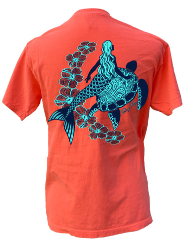 Mermaid - Neon Red Orange