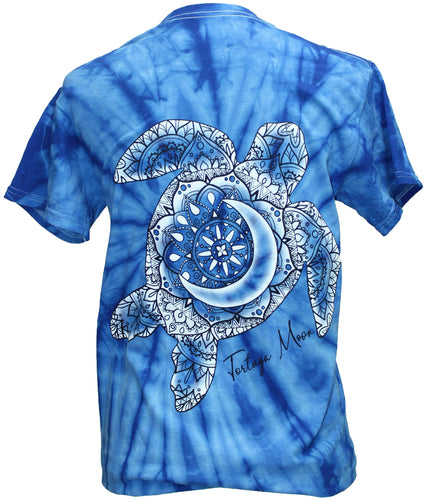 Turtle Tie Dye - Spider Blue