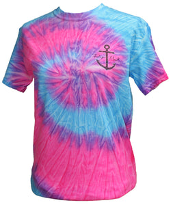 Mermaid Anchor - Tie Dye Flo Blue/Pink