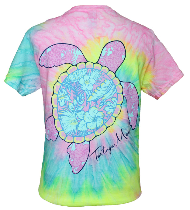 Palm Turtle - Seashell Tie Dye