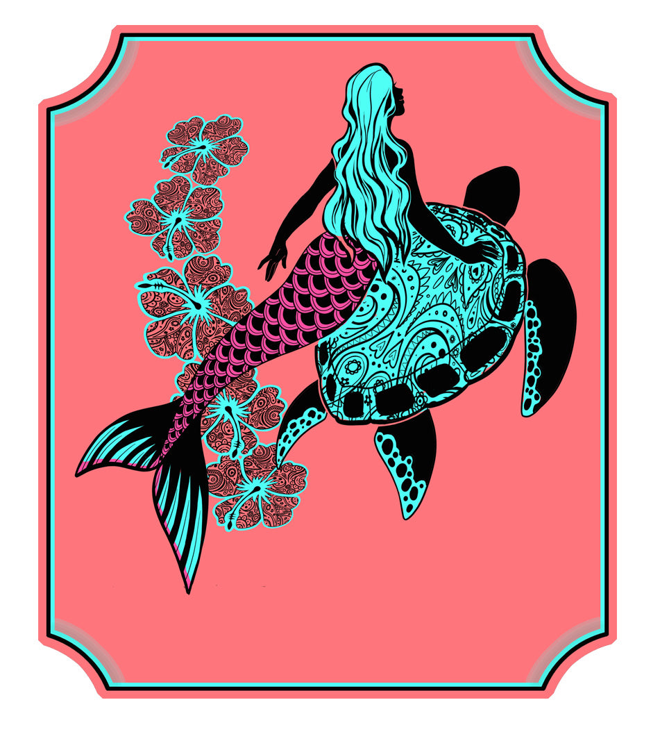 Mermaid Turtle Decal