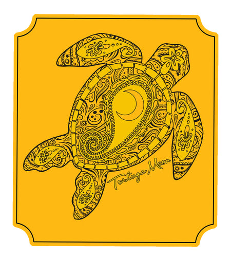 Mustard Moon Turtle Decal