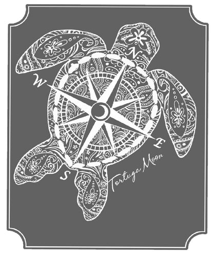 Granite Compass Turtle Decal
