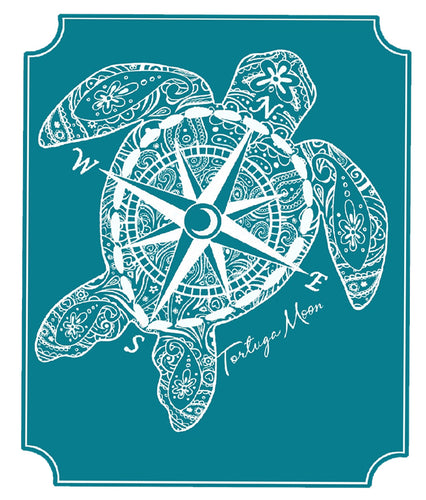 Compass Turtle Decal