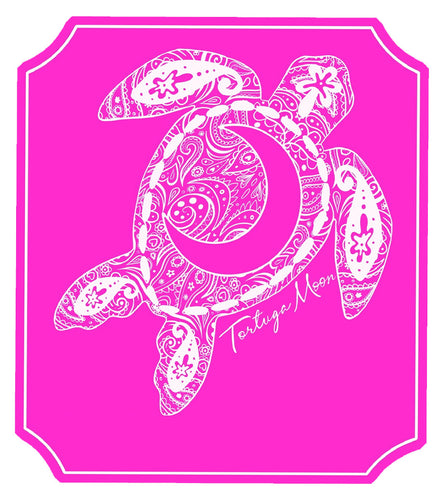 Pink Moon Turtle Decal