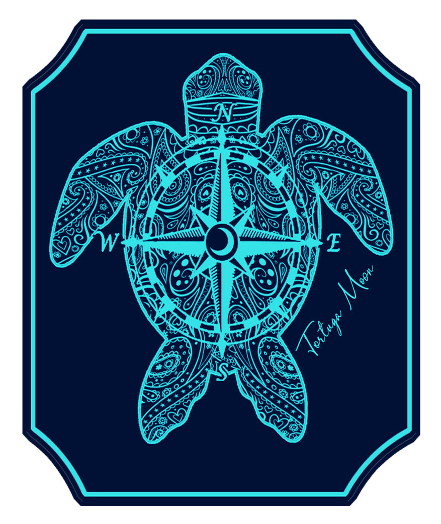 Compass Turtle Ice Decal