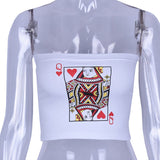 Vintage Poker Tight Top