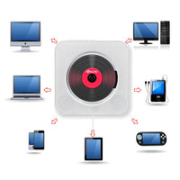 CD Player Wall-mounted Bluetooth Portable Home Audio Boombox