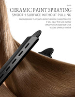 2 in 1 Anti - Static Ceramic Straightener And Curling Iron Dual