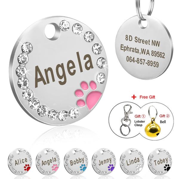 Personalized Pet Puppy Cat ID Tag Engraved Custom
