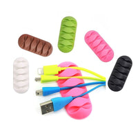Desktop Phone Cable Winder Earphone clip Charger Organizer