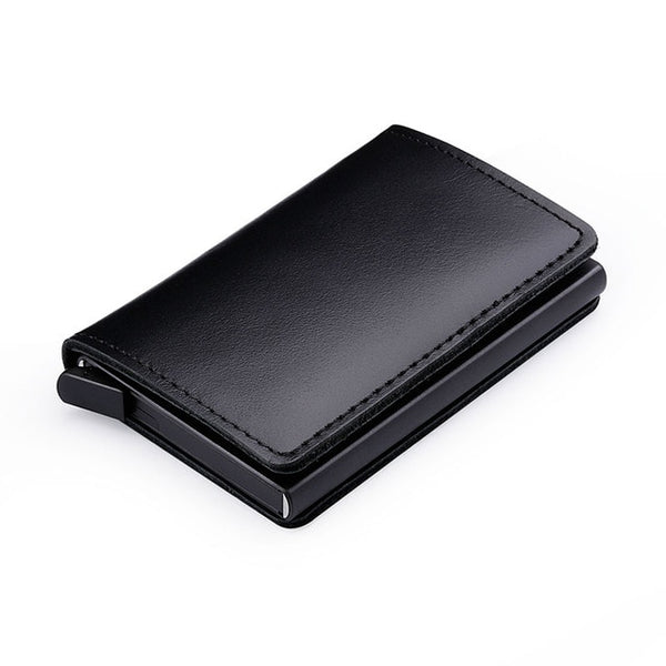 Leather RFID Secure Cash and Cards Wallet- Holds Lost of Cards and Cash