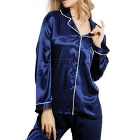 Womens Silk Pajama Set