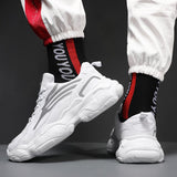 Mens Leisure Versatile Comfortable Thick Soles Reflective Breathable Sneakers