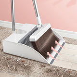 "Stainless Steel ""Built-in Comb"" Rotating Broom"