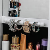 Full-Length Mirror Bedroom Multifunctional Jewelry Storage Cabinet Household Full-Length Mirror Wall-Mounted Fitting Mod