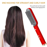 Hair Straightener Brush -20S Fast Heating 5 Temp Setting & Anti-Scald,Perfect for Professional Salon at Home