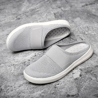 Womens Breathable Lightweight Air Cushion Slip-On Walking Slippers