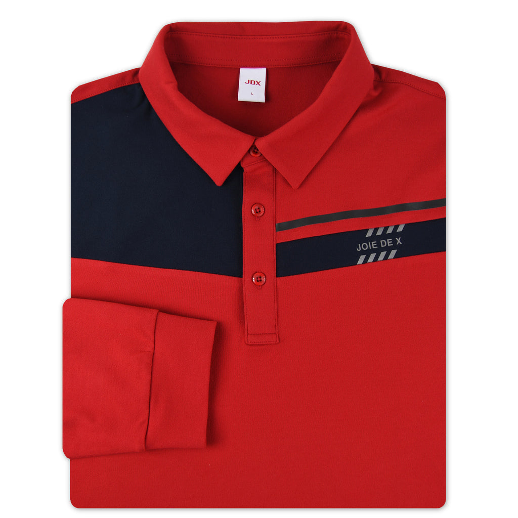 JDX Men's Long Sleeve Polo (X1RWTLM45)