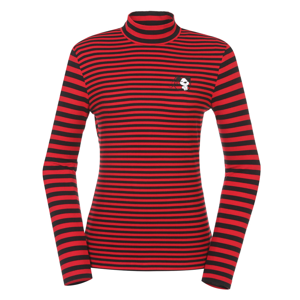 JDX Women's Stripe Turtleneck Top