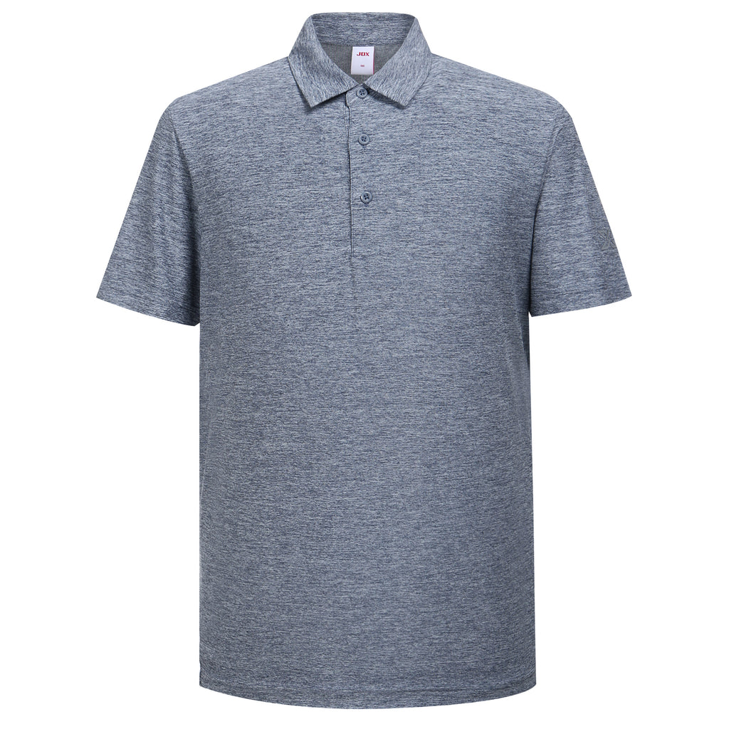 JDX Men's Short Sleeve Heather Polo
