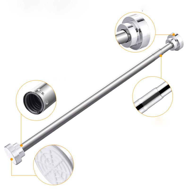 Extendable Shower Curtain Pole 125cm-220cm image 1