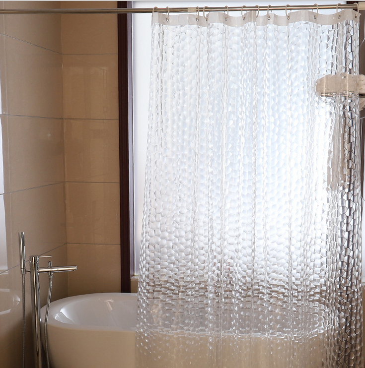 3D Water Cube Shower Curtain 180x180 image 1