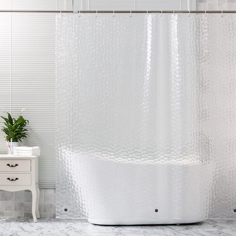 3D Water Cube Shower Curtain 180x200 image 1