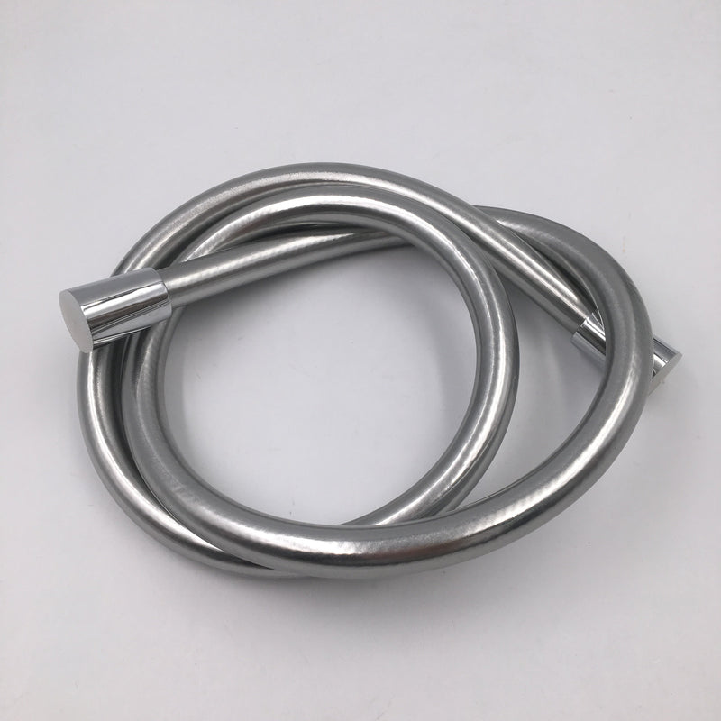 Easy Clean Smooth Silver Shower Hose - 200cm Long image