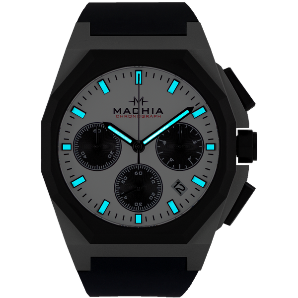 MACHIA chronograph watch men's watch design Germany stainless steel sapphire panda dial menswatch streetwear watch