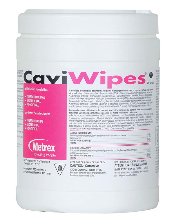 CaviWipes Metrex Disinfecting Towelettes Canister Wipes (160 Count)