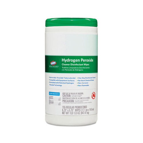 Clorox Hydrogen Peroxide Cleaner Disinfectant Wipes (Pack of 155)