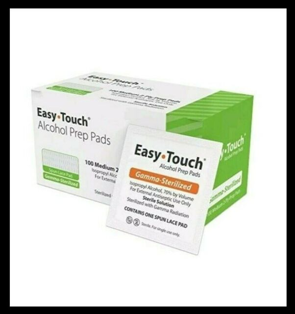 EasyTouch Alcohol Prep Pads (Gamma-Sterilized)