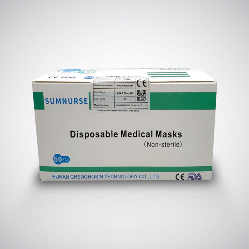 Sumnurse 3-Ply Disposable Medical Masks (Box of 50)