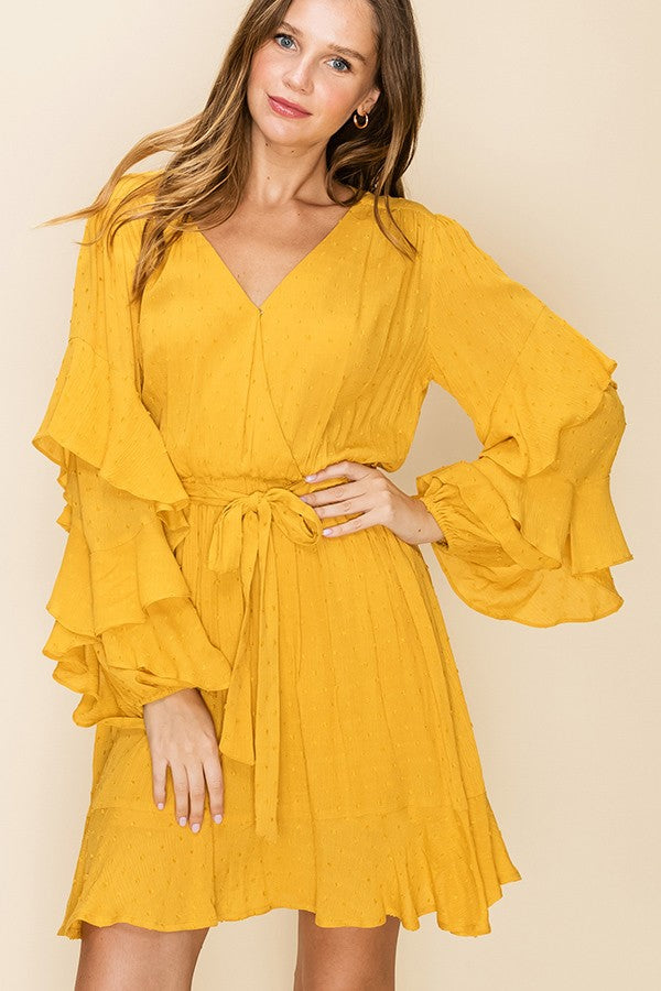 Load image into Gallery viewer, Sunny Yellow Ruffled Dress